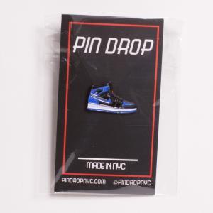 PIN DROP NYC Royal 1 Sneaker Pin ロイヤル1 スニーカーピンバッジ ジョーダン1タイプ 青黒|bk2bk