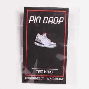 PIN DROP NYC 88 Sneaker Pin スニーカーピンバッジ ジョーダン3タイプ ホワイト|bk2bk
