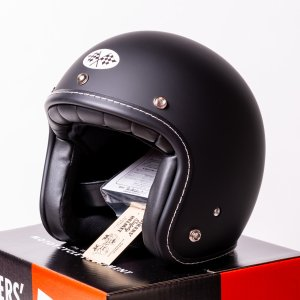 SIRANO BROS. MOTORCYCLE EQUIPMENT - 3/4 OPEN FACE MOTORCYCLE HELMET, Plain model ブラック シラノブロス|bk2bk