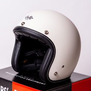 SIRANO BROS. MOTORCYCLE EQUIPMENT - 3/4 OPEN FACE MOTORCYCLE HELMET, Plain model アイボリー シラノブロス|bk2bk