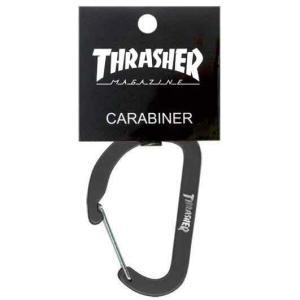 スラッシャー カラビナ THRASHER MAGAZINE Carabiner ブラック キーホルダー|bk2bk
