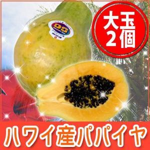 ハワイ産 パパイヤ 大玉2個入り トロピカルフルーツ 南国フルーツ ギフト 贈り物 お礼 お祝い