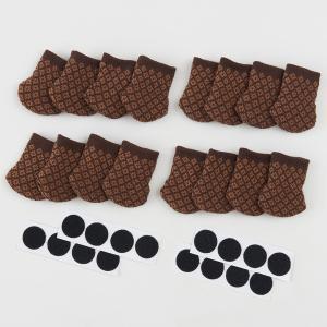 【送料無料】【代引不可】はずれにくい椅子脚ソックス16個入 ブラウンA-02|bkworld
