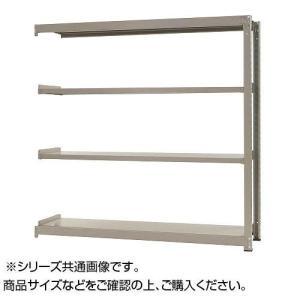 日本製 交換無料 中量ラック 耐荷重500kgタイプ 連結 ニューアイボリー 間口1500×奥行450×高さ2400mm 4段
