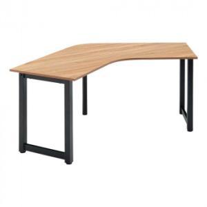 オフィス家具 アイアンフレーム ブーメランテーブル 190×60×70cm RGV1960-KKA|bkworld