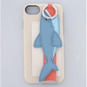 スマホケース バンド付きケース サメ ベージュ iPhone8/7/6s/6/SE対応 SCC8025-BE|bkworld