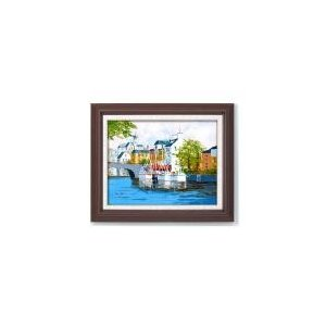 11493 定価 黒沢久 運河の風景 限定価格セール 油絵額F6
