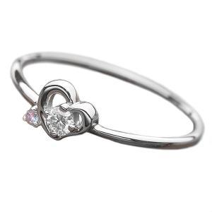 ダイヤモンド リング ダイヤ アイスブルーダイヤ 合計0.06ct 10号 Pt950 ハートモチーフ 指輪 鑑別カード付き プラチナ 市場 正規品 ダイヤリング