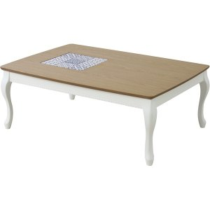 リビングこたつテーブル 超特価 アリス 再販ご予約限定送料無料 長方形 105cm×75cm 本体 ホワイト KT-101WH 白 木製