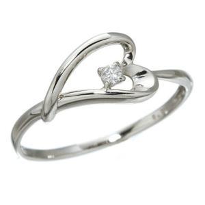 美品 プラチナダイヤモンドデザインリング3型 ウェビングハート 19号 希望者のみラッピング無料