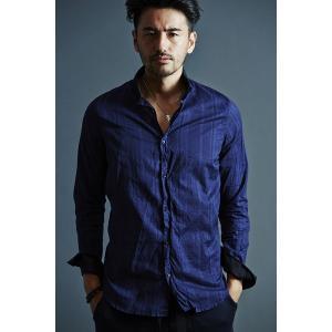 売却 ハイクオリティ VADEL collar separated NAVY サイズ46〔代引不可〕 shirts