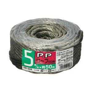 まとめ 買い物 本物 宮島化学工業 PPロープ HR-008 オーリブドラブ〔×50セット〕 小巻 50m