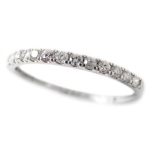 ダイヤモンド リング ハーフエタニティ 0.15ct 10号 プラチナ Pt950 エタニティリング シンプル 0.15カラット 売れ筋 細身 贈答 鑑別カード付き 指輪