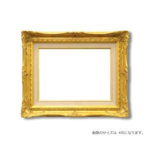 〔ルイ式油額〕高級油絵額 キャンバス額 豪華油絵額 定価の67%OFF 模様油絵額 F15号 ゴールド 652×530mm 5☆大好評