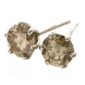 流行 Pt900 ブラウン ダイヤモンドピアス 訳あり商品 0.5ct プラチナ