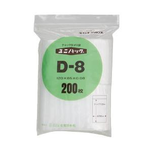まとめ 生産日本社 ユニパックチャックポリ袋120 選択 85 D-8 200枚 ×30セット 贈答
