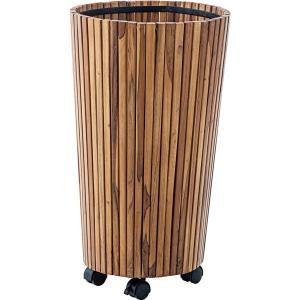 <title>ウッドプランター 植木鉢 2個セット 〔L 直径39cm×高さ65cm〕 木製 キャスター付き 〔ガーデニング用品 園芸用品〕 売却</title>