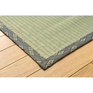 純国産/日本製 糸引織 い草上敷 『湯沢』 六一間4.5畳(約277×277cm) bkworld 03
