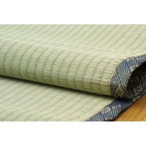 純国産/日本製 糸引織 い草上敷 『湯沢』 六一間4.5畳(約277×277cm) bkworld 04