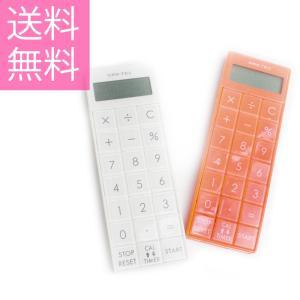 電卓とタイマーが一緒になった電卓タイマー。看護師の業務にとっても便利、取り外しもとても簡単なストラッ...
