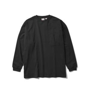 Goodwear(グッドウエア) USA COTTON L/S SUPER BIG POCKET TEE(BLACK) オーバーサイズ ビッグシルエット ロンティ blackannyfujisawayh