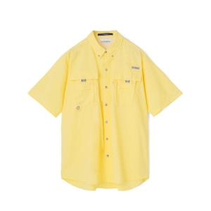 Columbia Sportwear BAHAMA II S/S SHIRT(SUNLIT) コロンビア バハマ シャツ 半袖シャツ イエロー|blackannyfujisawayh