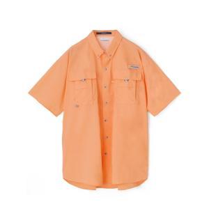 【期間限定SALE】Columbia Sportwear BAHAMA II S/S SHIRT(BRIGHT NECTAR) コロンビア バハマ シャツ 半袖シャツ  オレンジ|blackannyfujisawayh