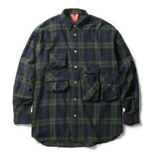 【FLATLUX(フラットラックス)】GRAND THEFT SHIRT(BLACKWATCH)フィッシングシャツ  ネルシャツ オーバーシャツ 90's|blackannyfujisawayh
