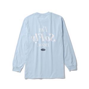 【FLATLUX(フラットラックス)】FLATLUX MOOD L/S TEE(SKY BLUE)大きいサイズ ビッグサイズ  ロンティ blackannyfujisawayh