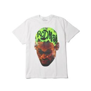 【新入荷】RODMAN BRAND  HEAD GREEN TEE(WHITE)  デニスロッドマン|blackannyfujisawayh