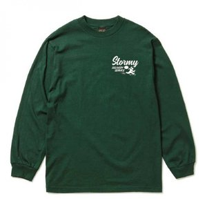 【STORMY ORIGINALS ストーミーオリジナルス】STORMY DELIVERY L/S T-SHIRTS (GREEN/WHITE) blackannyfujisawayh