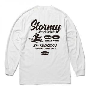 【STORMY ORIGINALS ストーミーオリジナルス】STORMY DELIVERY L/S T-SHIRTS (WHITE/BLACK) blackannyfujisawayh