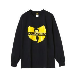 【WU-WORLD(ウータン・クラン)】WU LOGO MEMBER L/S TEE(BLACK) ウータン ウーワールド hiphop wutang blackannyfujisawayh