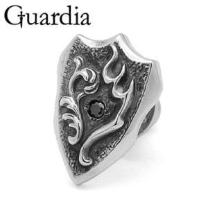 Guardia / ガルディア Guardia Emblem / ガルディアエンブレム ピアス ブラックキュービックジルコニア|blackbarts
