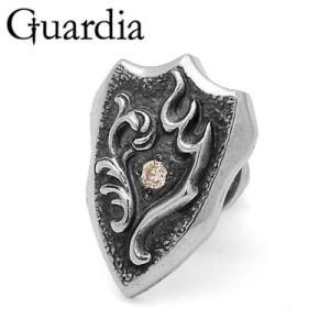 Guardia / ガルディア Guardia Emblem / ガルディアエンブレム ピアス シャンパンキュービックジルコニア|blackbarts
