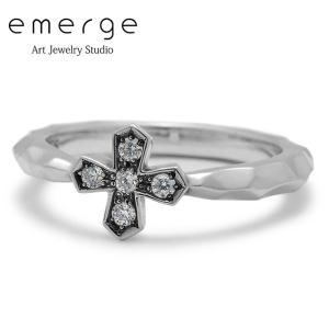 emerge / エマージュ スモールクロスリング キュービックジルコニア|blackbarts