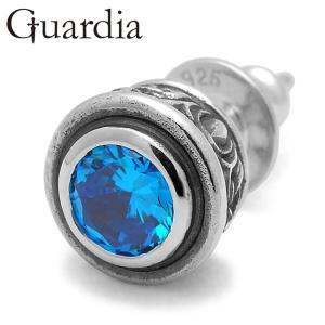 Guardia / ガルディア Aster / アステール ピアス ブルーキュービックジルコニア|blackbarts