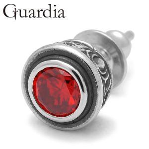 Guardia / ガルディア Aster / アステール ピアス レッドキュービックジルコニア...