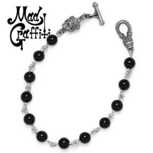 Mad Graffiti / マッドグラフィティ アットジエンドブレスレット S オニキス Mサイズ:19.4cm|blackbarts