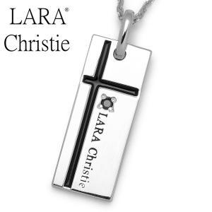 LARA Christie / ララクリスティー ノーブルクロスネックレス ブラック P3051-B|blackbarts