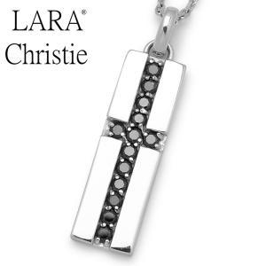 LARA Christie / ララクリスティー ロイヤルクロスネックレス ブラック P3116-B|blackbarts