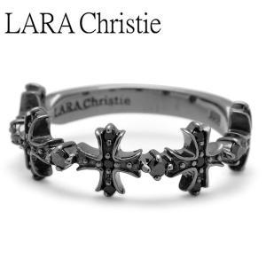 LARA Christie / ララクリスティー アントワープクロスリング ブラック BLACK Label|blackbarts
