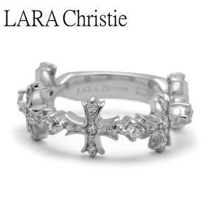 LARA Christie / ララクリスティー アントワープクロスリング ホワイト WHITE Label|blackbarts