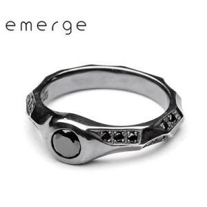 emerge / エマージュ ラグジュアリーランダムエッジリング ブラックタイプ|blackbarts