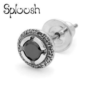 Sploosh / スプルーシュ P-6 ピアス ブラックキュービックジルコニア|blackbarts