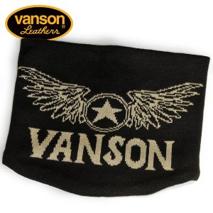 VANSON / バンソン フライングスターエンブレム アクリルジャガードリバーシブルネックウォーマー NVNW-701|blackbarts