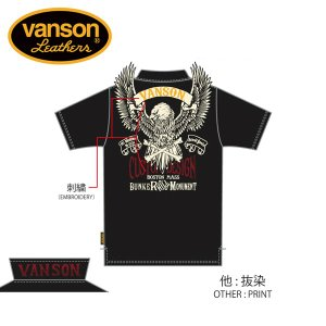 新作先行予約 VANSON / バンソン フライングイーグル 天竺半袖ポロシャツ NVPS-906 blackbarts