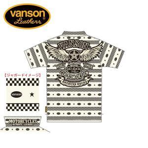 新作先行予約 VANSON / バンソン フライングスター ジャガード半袖ポロシャツ NVPS-908 blackbarts