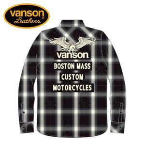 新作 VANSON / バンソン フライングイーグル オンブレチェックシャツ NVSL-808 blackbarts