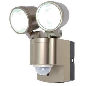 ELPA 屋外用LEDセンサーライト 乾電池 3wLED 2灯 ESL-302BT blackmacerstore